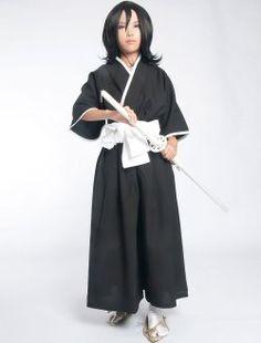 l'eau de Javel Kuchiki Rukia âme reaper cosplay costume uniforme