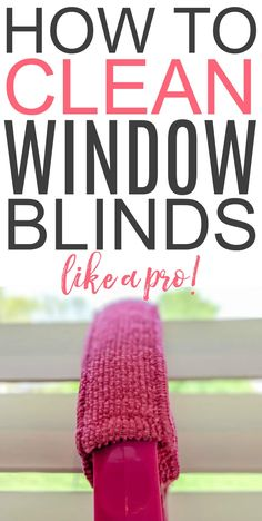 Want to know the best way to clean window blinds? Check out how to clean window … Want to know the best way to clean window blinds? Check out how to clean window blinds like a pro. Get those blinds free from dust and grime. Deep Cleaning Tips, House Cleaning Tips, Cleaning Solutions, Spring Cleaning, Cleaning Hacks, Cleaning Schedules, Car Cleaning, Clean Window Blinds, Blinds For Windows