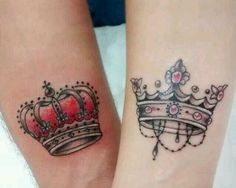 Tattoo couple king and queen