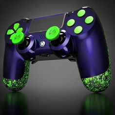 What do you think of this customization that we have designed for today? Cool Ps4 Controllers, Ps4 Controller Custom, Game Controller, Xbox One Games, Ps4 Games, Games Consoles, Control Ps4, Mundo Dos Games, Kings Game