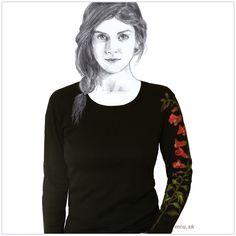 Maľované tričko Papuľky – Antirrhinum – miu.sk Hoodies, Sweatshirts, Sweaters, T Shirt, Fashion, Supreme T Shirt, Moda, Tee Shirt, Fashion Styles