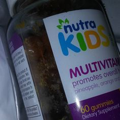 Nutra Kids Multivitamin Gummies - 60 Gummies in Pineapple Orange and Strawberry Flavor - PECTIN BASED - GELATIN FREE - SUGAR FREE - GLUTEN FREE. #nutrakids #vitamins  I ordered these gummy multivitamins for kids because my grandson