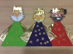 Kids Crafts, Christmas Crafts For Kids To Make, Meaning Of Christmas, Christmas Carol, 3 Kings Day Crafts, Epiphany Crafts, Puppet Making, Nativity Crafts, Christian Christmas