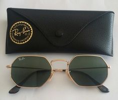 c76a5e80734 Ray-ban Octagonal Round Flat Lens Sunglasses 3556 001 - This are like new!