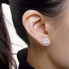 Pair Of Chic Style Rhinestoned Alloy Sunflower Shape Women's Stud Earrings, AS THE PICTURE in Earrings | DressLily.com