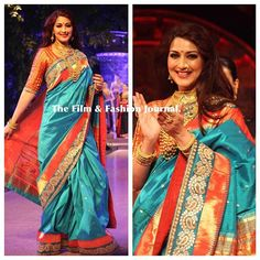 Sonali Bendre in paithani sari Indian Bridal Wear, Indian Wedding Outfits, Indian Wear, Indian Outfits, Pattu Saree Blouse Designs, Saree Blouse Patterns, Designer Blouse Patterns, Indian Beauty Saree, Indian Sarees