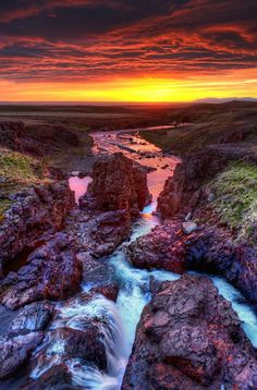 The Solstice - 2 AM sunset in Iceland