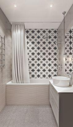 Фотография: Ванная в стиле Современный, Квартира, Проект недели, Co:Interior, Монолитный дом, 2 комнаты, 60-90 метров, Южно-Сахалинск – фото на InMyRoom.ru