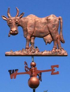 Cow weathervane