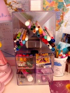 Bloggers have used our cubes for  organizing crayons and markers for a little girls room.