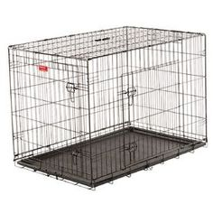 Lucky Dog 42-In X 42-In X 30.96-In Black Powder Coat Collapsible Plastic And Wire Pet Crate Zw 11542