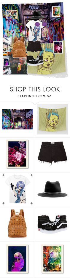 """""""Urban art"""" by abunny46 ❤ liked on Polyvore featuring Canvas Home, Americanflat, MANGO, rag & bone, Janis, MCM and Vans"""
