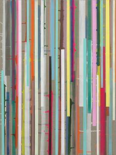 "Ien Lucas - 02.01.2008/ z.t.( serie ""no horizon"") 200x150cm/  acrylverf, linnen (collectie Ministerie Buitenlandse Zaken)"