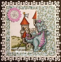 Gift Card Ralph - Magnolia Stamp 2012 Princes & Princesses Collection - Lillyrose The Dragon & Edwins Night Castle
