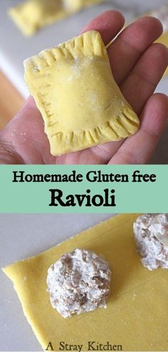 A classic recreated into gluten free. This pasta recipe makes perfect gluten free ravioli to be stuffed and topped with your favorite filling and sauce. Gluten Free Pasta, Gluten Free Dinner, Gluten Free Cooking, Gluten Free Homemade Pasta, Gluten Free Perogies Recipe, Eating Gluten Free, Gluten Free Breads, Gluten Free Vegan, Gluten Free Lasagna Noodles