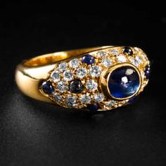 Vintage Cartier Diamond and Sapphire ring