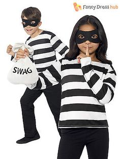 Child #burglar bill #robber fancy dress convict kids boys book week day #costume,  View more on the LINK: 	http://www.zeppy.io/product/gb/2/181653161987/