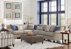 picture of Brenton Court Platinum 5 Pc Sectional Living Room from ...