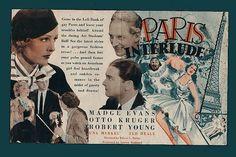Paris interlude de Edwin L. Robert Young, Paris, Evans, Ted, Movies, Movie Posters, Movie Titles, Montmartre Paris, Films