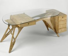 carlo mollino an unrestricted uncompromising creative glass deskglass - Designer Glass Desk