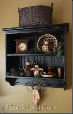 primitive shelf for dining room