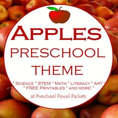 Awesome ideas for a preschool apple theme! Hours of preschool apple activities included...many are appropriate for older kids too!