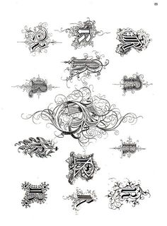 #Ornamental #alphabets, the letter #R