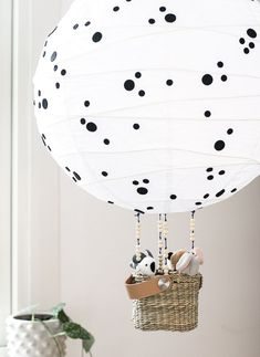 IKEA hack: DIY balloon lamp for the kids room by hacking Regolit from IKEA. IKEA hack: DIY balloon lamp for the kids room by hacking Regolit from IKEA. Diy Balloon, Diy Hot Air Balloons, Lampe Ballon, Ikea Nursery, Nursery Decor, Decor Room, Ikea Hack Kids Bedroom, Ikea Baby Room, Ikea Kids Room