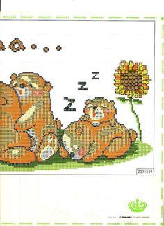 família d'osos dormin 3