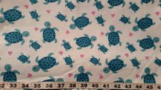 Flannel fabric with turtles heart cotton print  quilt sewing material to sew for crafting by the yard BTY sea turtle fabric by ConniesQuiltFabrics from ConniesQuiltFabric. Find it now at http://ift.tt/2fm2jh5! http://ift.tt/24HwgZX.