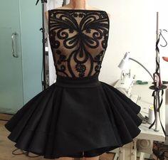 Michael Costello Black Dress
