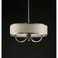White 20-inch Chandelier with Curved Accents