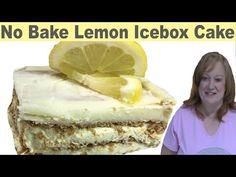 "No Bake ""Lemon"" Icebox Cake – Catherine's Plates Icebox Desserts, No Bake Desserts, Just Desserts, Delicious Desserts, Lemon Recipes, Pie Recipes, Dessert Recipes, Cooking Recipes, Desserts Without Eggs"