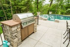 Real Fit Housewife: Welcome to my Home: Our Little Slice of Heaven Lion Grill Outdoor Rooms, Outdoor Living, Outdoor Decor, Herringbone Tile Floors, Welcome To My House, Backyard, Patio, Home Pictures, House Floor Plans