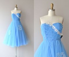 Whim and Caprice vintage 50s dress | tulle 1950s party dress by DearGolden on Etsy https://www.etsy.com/listing/246578963/whim-and-caprice-vintage-50s-dress-tulle