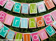 Hey, I found this really awesome Etsy listing at https://www.etsy.com/listing/117149188/owl-birthday-party-banner-the-mallary