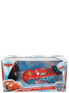 Autot-elokuvista tuttu Salama McQueen hienona Ice Racers -versiona! Kaksikanavainen radio-ohjaus, 40 MHz. Ajaa eteen ja taakse, oikealle ja vasemmalle. Turbotoiminto. Pituus 17 cm. Tarvitsee paristot 3 x 1.5 V R03 + 2x 1.5V R6. Ikäraja 3+
