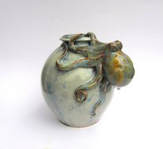 Hand Made Pottery Art Vase Ceramic Vase with by SarahWhyteCeramics