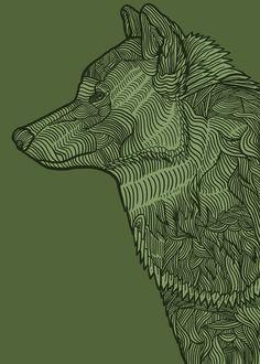"Enthusiastic Wolf  Art Print / MINI (8"" x 10"")  $17.00  Available @ Society6"