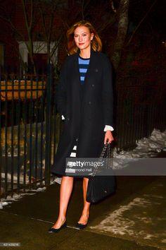 Model Karlie Kloss is seen walking in Soho on January 10, 2017 in New York City.