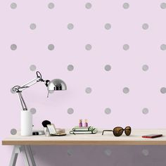 Create-A-Mural - Silver Wall Dot Decals, $7.99 (http://www.create-a-mural.com/silver-wall-dot-decals.html/)