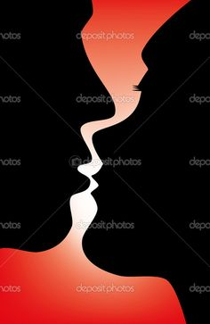silhouette kiss - Google Search