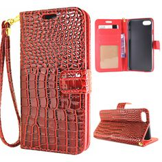 >> Click to Buy << For Apple iPhone 7 4.7'' Luxury Alligator Leather Wrist Strap Wallet Card Flip Case For iPhone7 Stand Photo Frame Women Cover #Affiliate