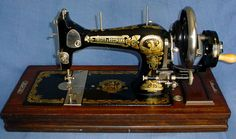 Frister and Rossman Model E - I so want a hand turned sewing machine.