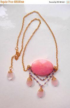 ON SALE Maribelle pendant necklace gemstone cluster pendant