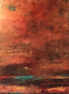 abstract landscape  oil and cold wax medium
