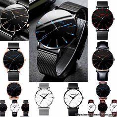 Stainless Steel Mesh, Make A Gift, Quartz Watch, Minimalist Fashion, Nba, Watches For Men, Mens Fashion, Baseball, Sport