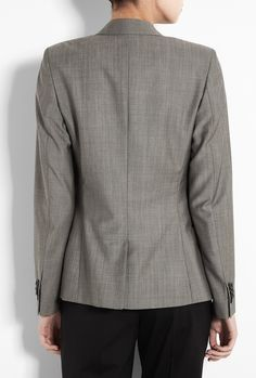 Paul Smith Black  Taupe Rivere One Button Jacket back