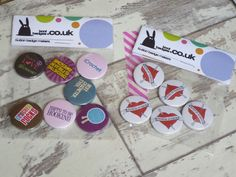 Packaging up button badge orders. If you spot yours, give us a shout.