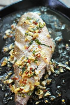Baked Baby Red Snapper (in a light refreshing sauce) by jaime